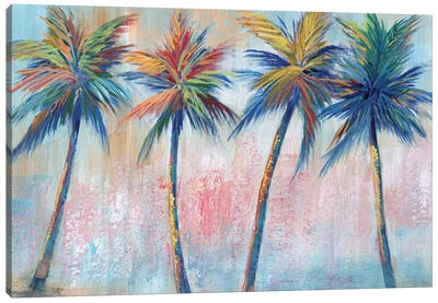 Color Pop Palms Canvas Art Print