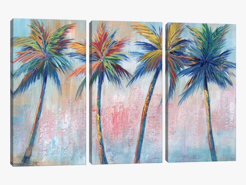 Color Pop Palms by Nan 3-piece Canvas Print