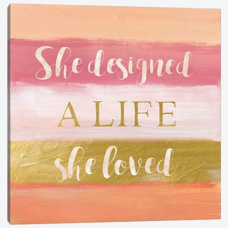 She Designed Canvas Print #NAN576} by Nan Art Print