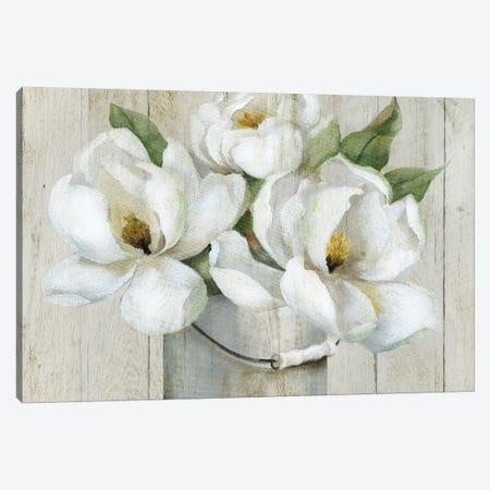 Shiplap Magnolias Canvas Print #NAN577} by Nan Art Print