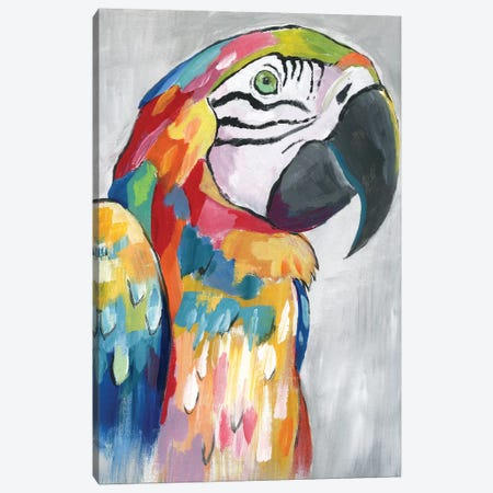Vibrant Parrot Canvas Print #NAN581} by Nan Canvas Print