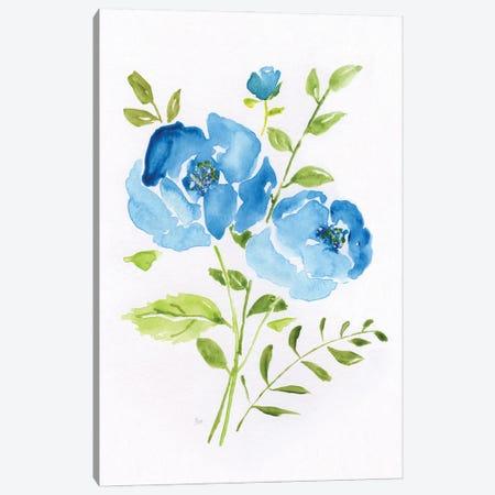 Blue Morning Bouquet I 3-Piece Canvas #NAN592} by Nan Canvas Art