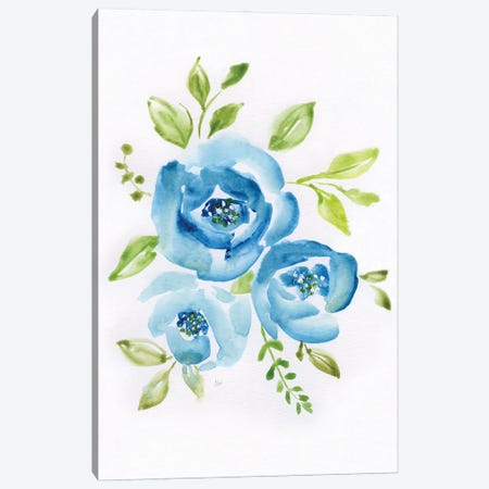 Blue Morning Bouquet II Canvas Print #NAN593} by Nan Canvas Art
