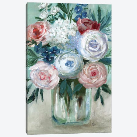 Chalk Pastel Bouquet Canvas Print #NAN595} by Nan Art Print