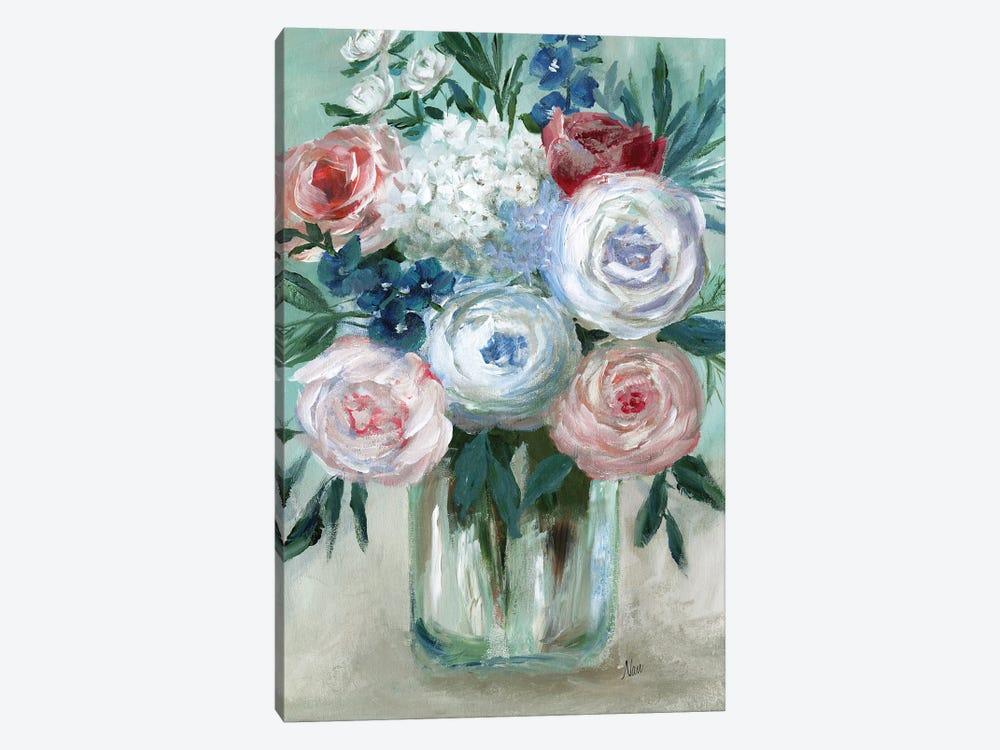 Chalk Pastel Bouquet by Nan 1-piece Canvas Wall Art
