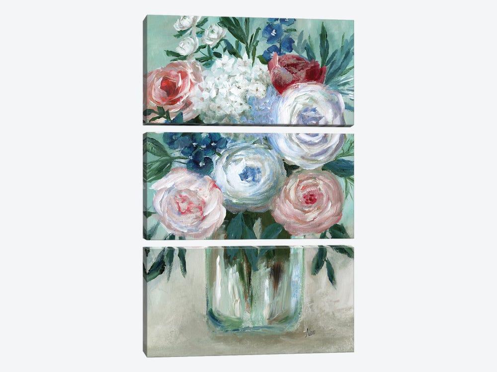 Chalk Pastel Bouquet by Nan 3-piece Canvas Art