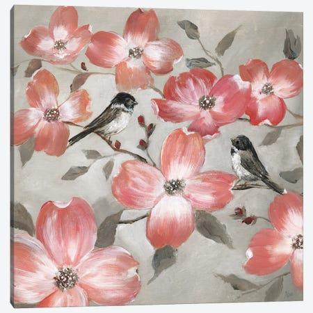 Chickadee Spring I 3-Piece Canvas #NAN596} by Nan Art Print