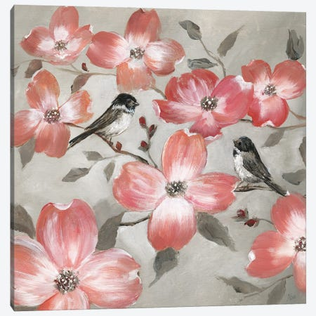 Chickadee Spring I Canvas Print #NAN596} by Nan Art Print