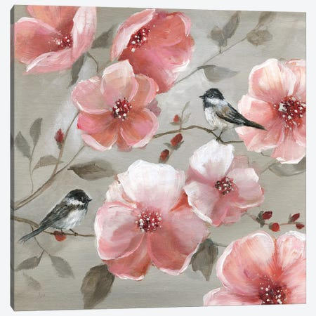 Chickadee Spring II Canvas Print #NAN597} by Nan Canvas Print