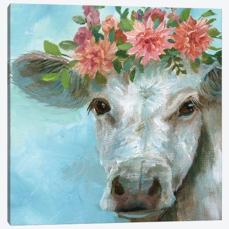 Happy Bessie Canvas Print #NAN603} by Nan Canvas Art