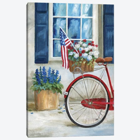 Patriot Bike I Canvas Print #NAN611} by Nan Art Print