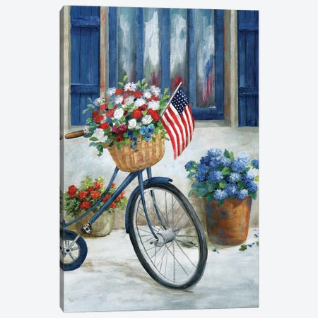 Patriot Bike II Canvas Print #NAN612} by Nan Art Print