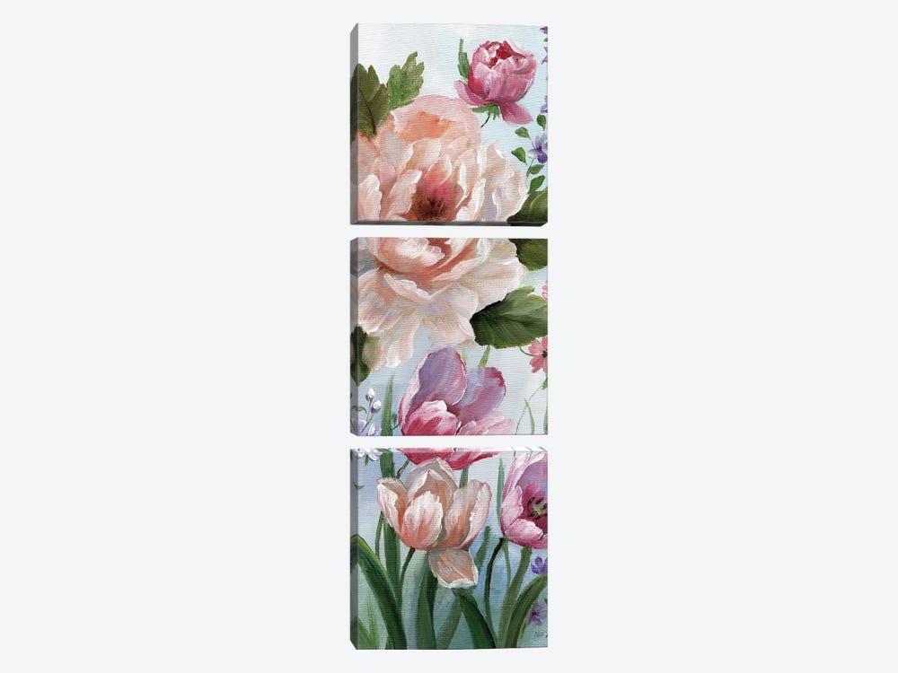 Romantic Botanical I by Nan 3-piece Canvas Art Print