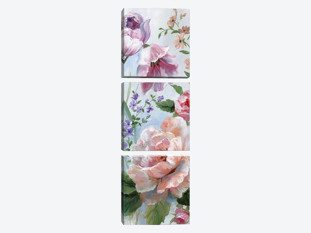 Romantic Botanical II by Nan 3-piece Canvas Wall Art