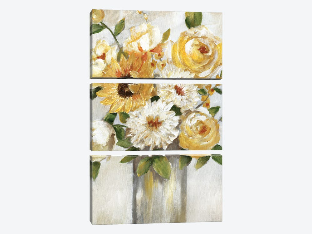 Sunshine Bouquet by Nan 3-piece Canvas Art