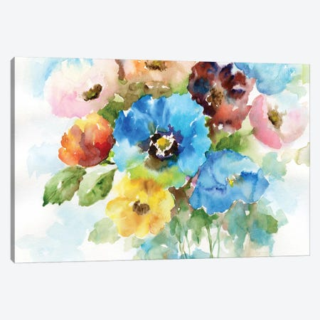 Color Wheel Bouquet II Canvas Print #NAN62} by Nan Canvas Print