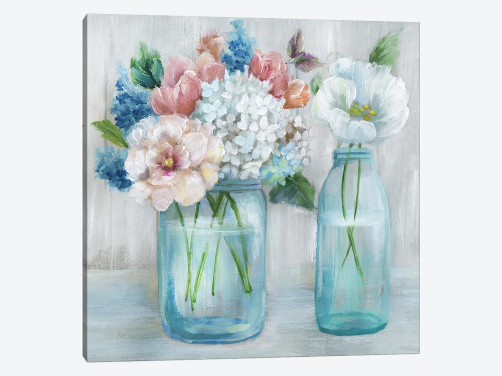 Country Bouquet by Nan 1-piece Canvas Artwork