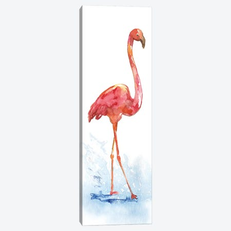 Flamingo Splash I Canvas Print #NAN65} by Nan Canvas Artwork