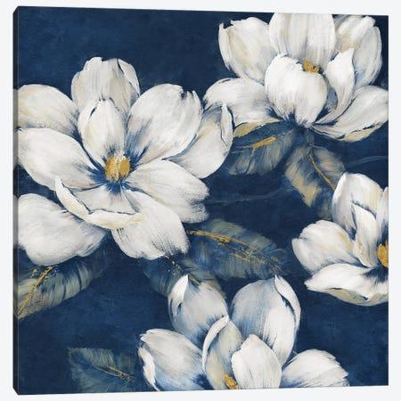 Magnolias Indigo Canvas Print #NAN661} by Nan Canvas Art