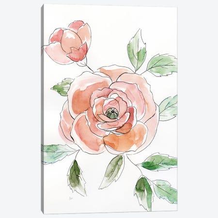 Rose Contour Canvas Print #NAN669} by Nan Canvas Art