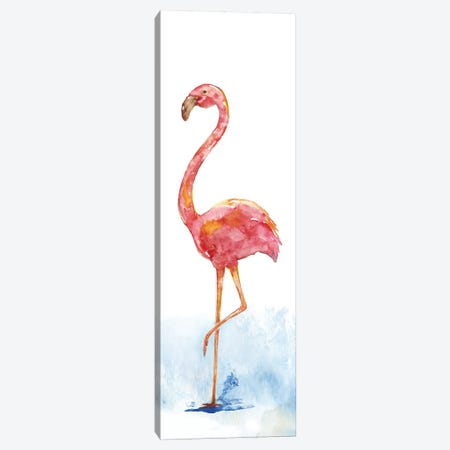 Flamingo Splash II Canvas Print #NAN66} by Nan Canvas Wall Art