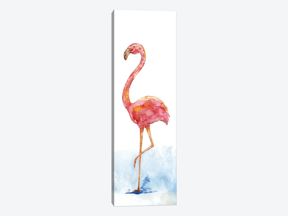 Flamingo Splash II by Nan 1-piece Canvas Art