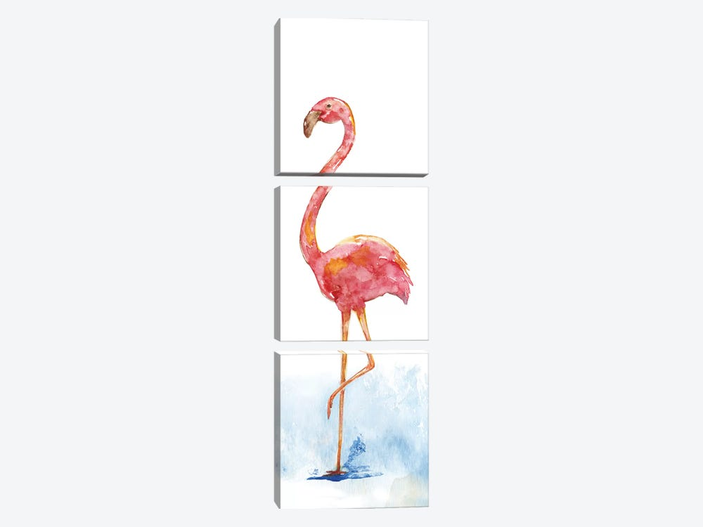 Flamingo Splash II by Nan 3-piece Canvas Artwork