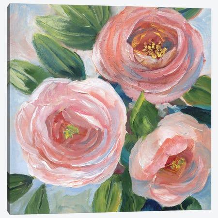 Sweet Peach Bouquet Canvas Print #NAN676} by Nan Canvas Artwork