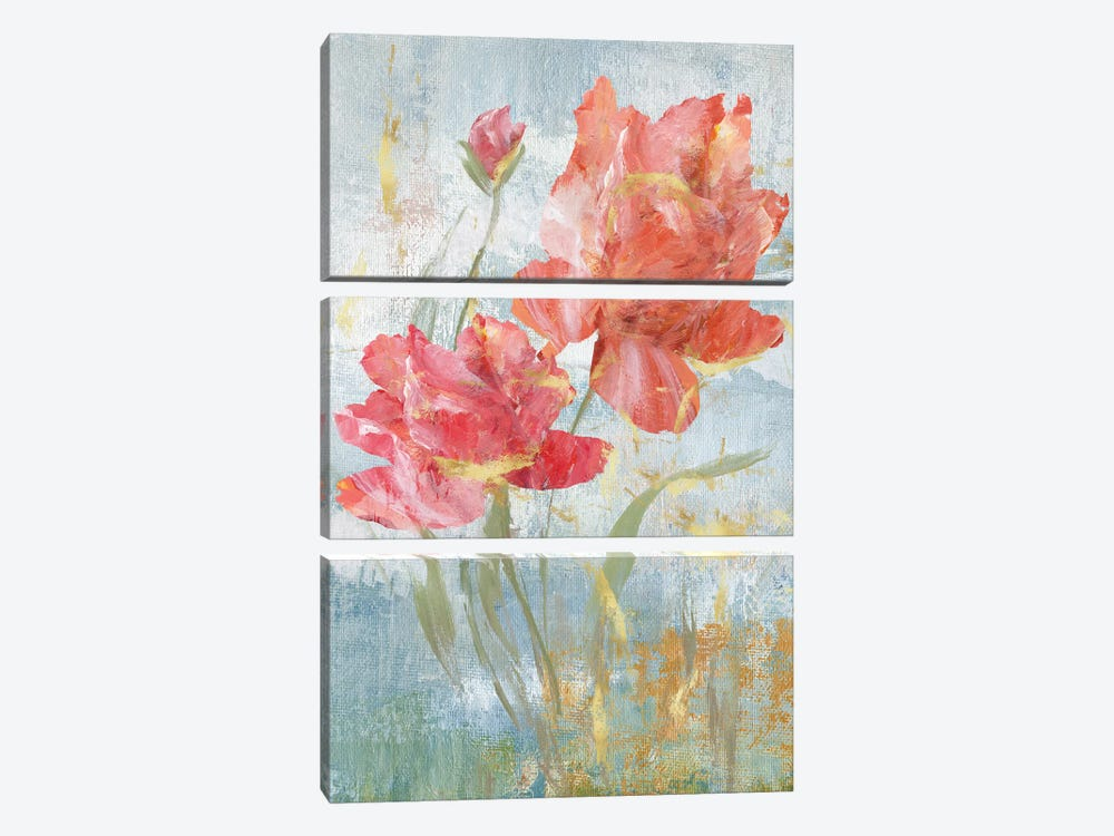 Floral Dance I by Nan 3-piece Canvas Art Print