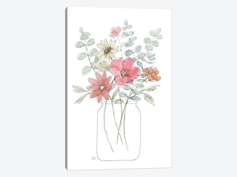 Whimsical Wildflowers II by Nan 1-piece Canvas Art