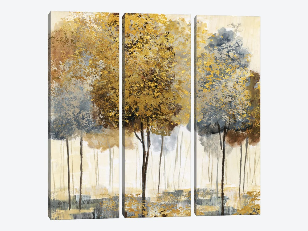 Metallic Forest I by Nan 3-piece Art Print