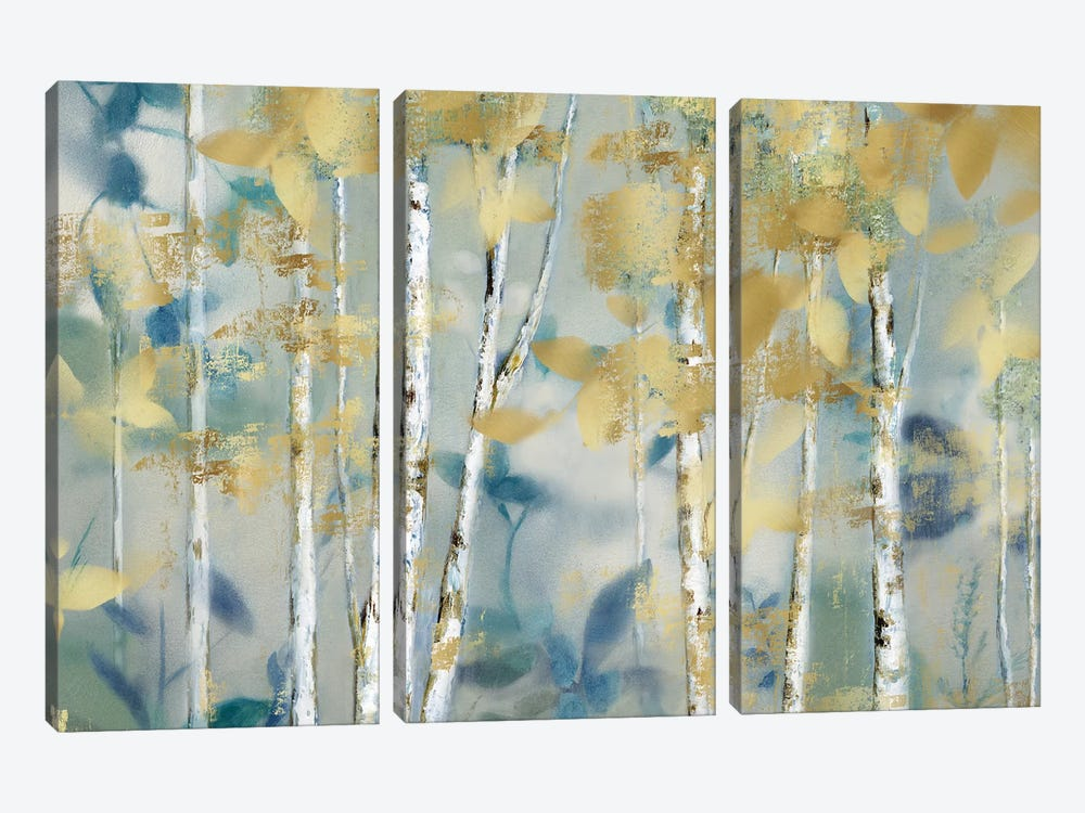 Gilded Forest I by Nan 3-piece Canvas Artwork