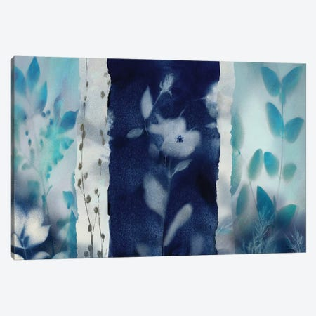 Indigo Montage Canvas Print #NAN73} by Nan Canvas Wall Art