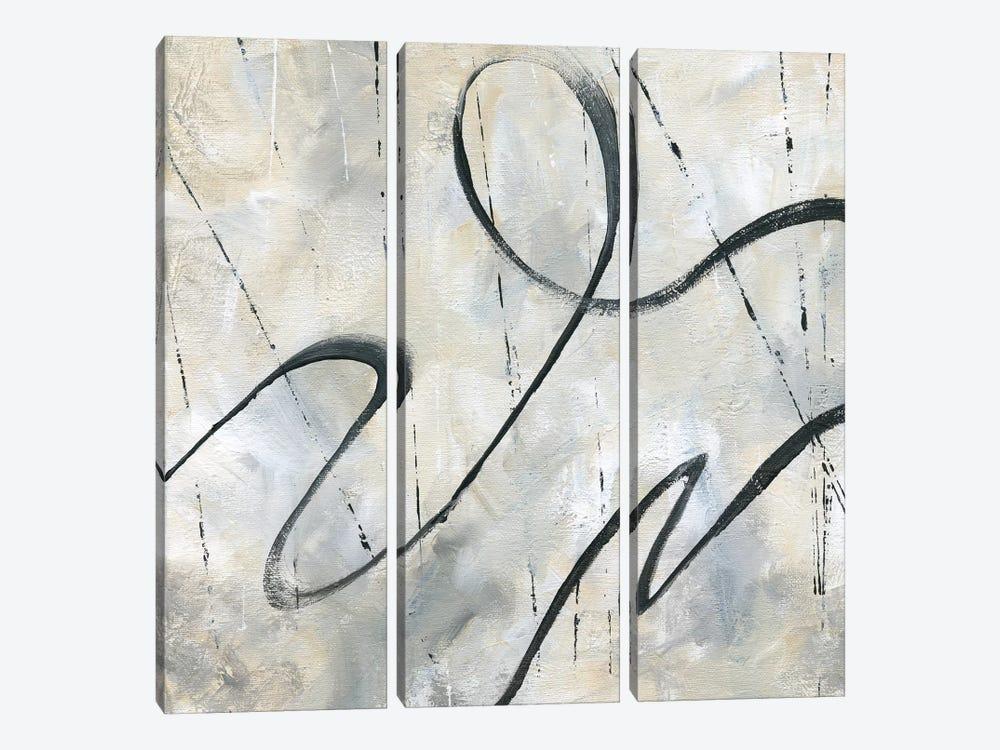 Neutral Dance II by Nan 3-piece Canvas Artwork