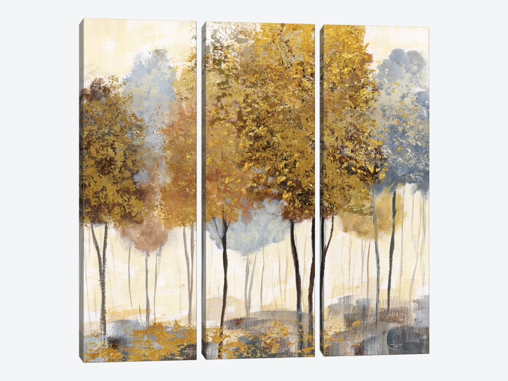 Metallic Forest II by Nan 3-piece Canvas Wall Art