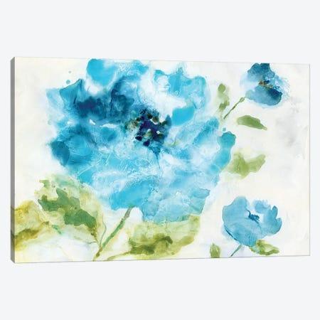 Softly Blue 3-Piece Canvas #NAN85} by Nan Canvas Art