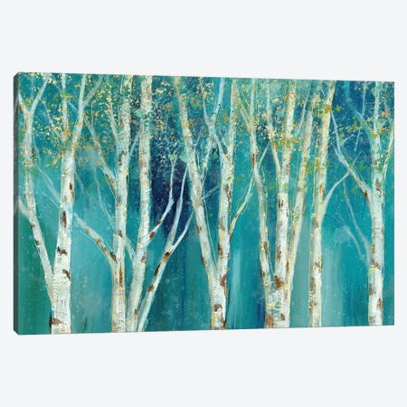 Birch On Blue Canvas Print #NAN90} by Nan Canvas Wall Art