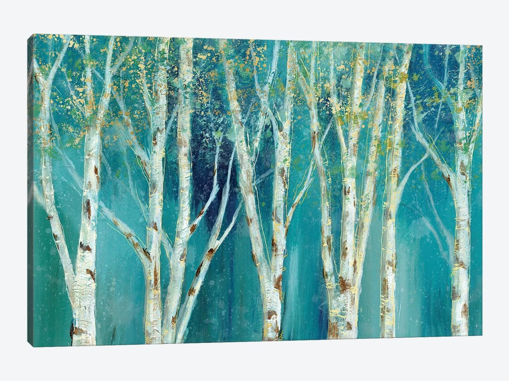 Birch On Blue by Nan 1-piece Canvas Print