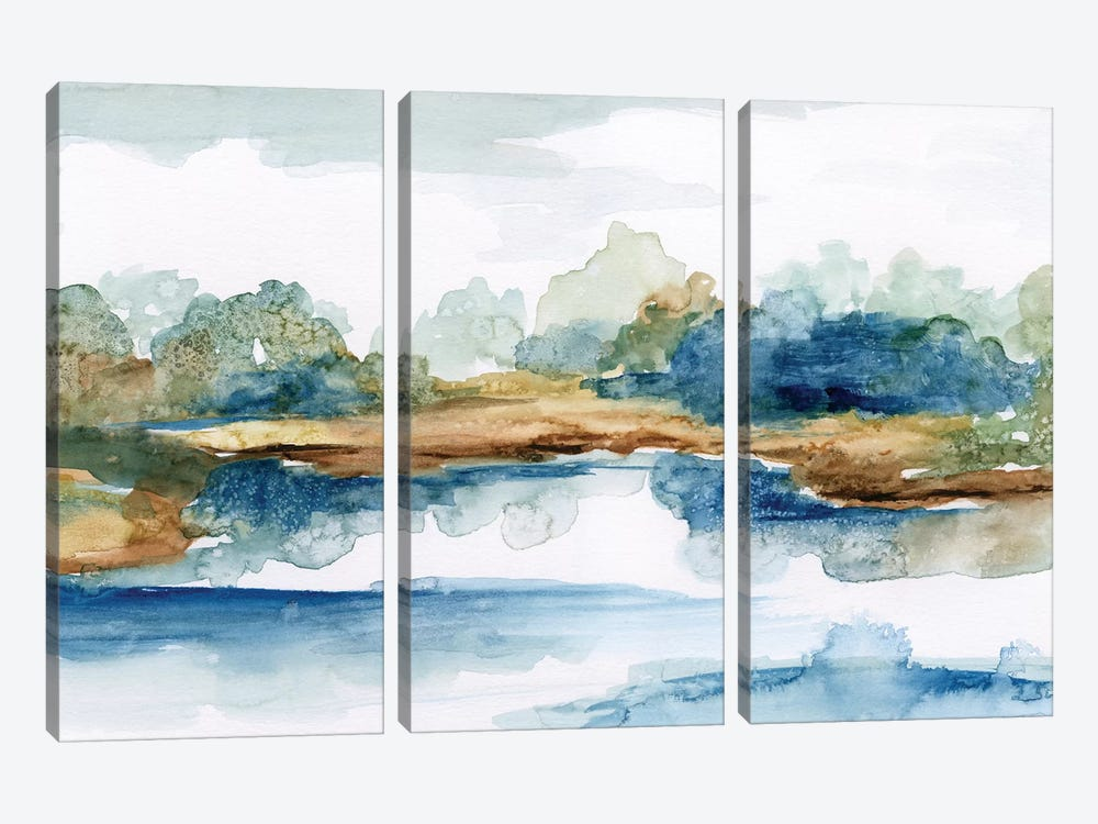 Blue Serenity by Nan 3-piece Canvas Artwork