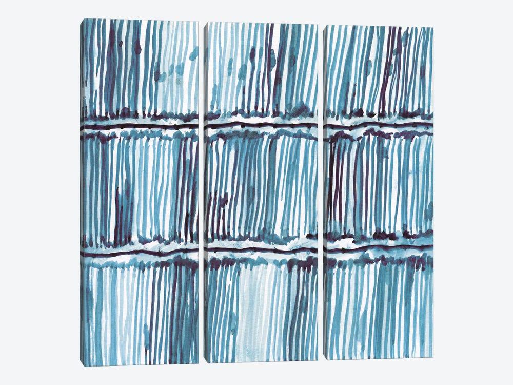 Bold Blue III by Nan 3-piece Canvas Wall Art