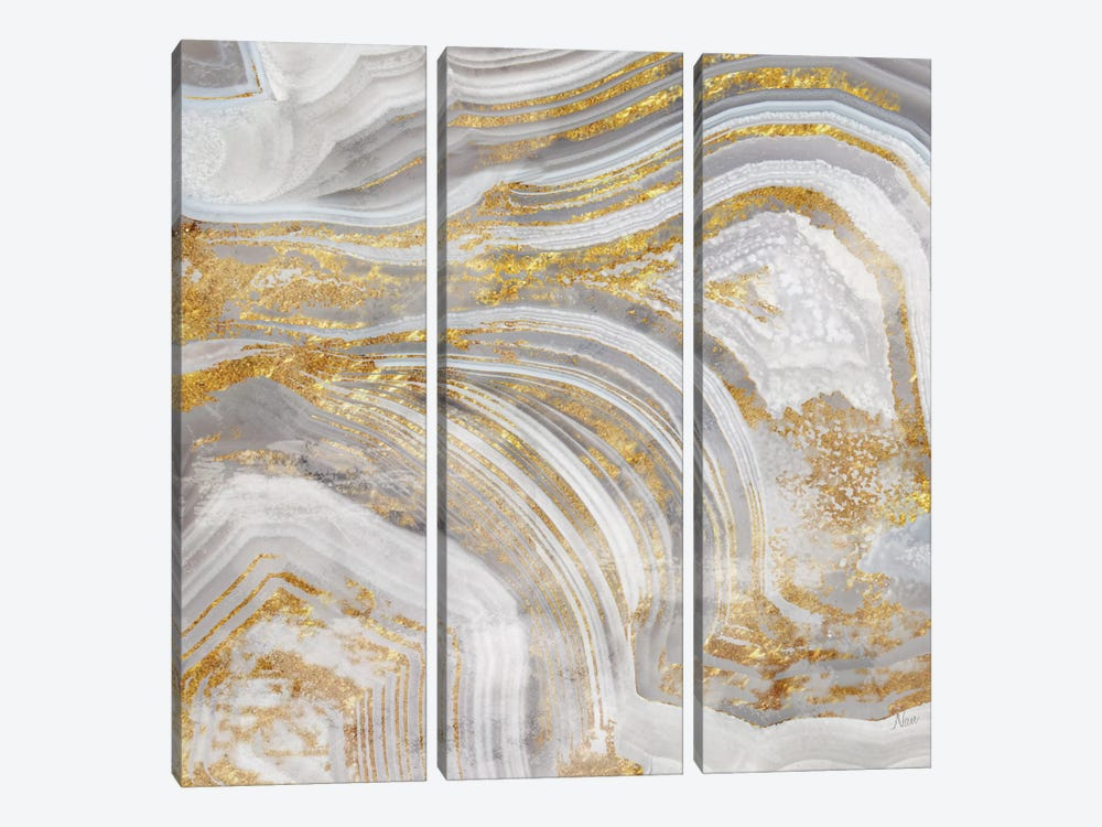 Agate Allure I by Nan 3-piece Canvas Art