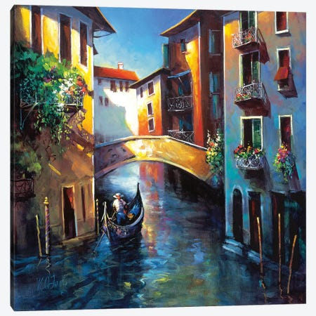 Daybreak in Venice Canvas Print #NAO1} by Nancy O'Toole Canvas Artwork