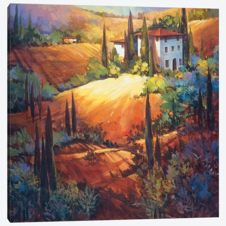 Morning Light Tuscany 3-Piece Canvas #NAO3} by Nancy O'Toole Canvas Art