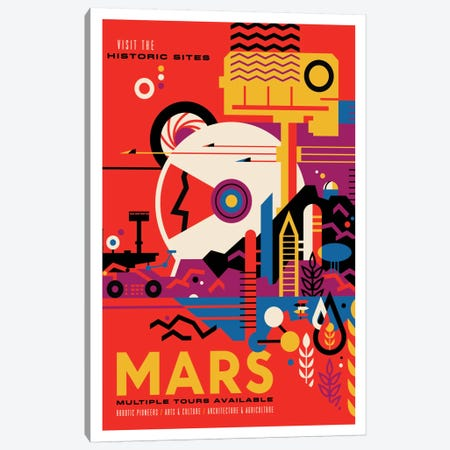 Visions Of The Future Series: Mars Canvas Print #NAS10} by NASA Canvas Print