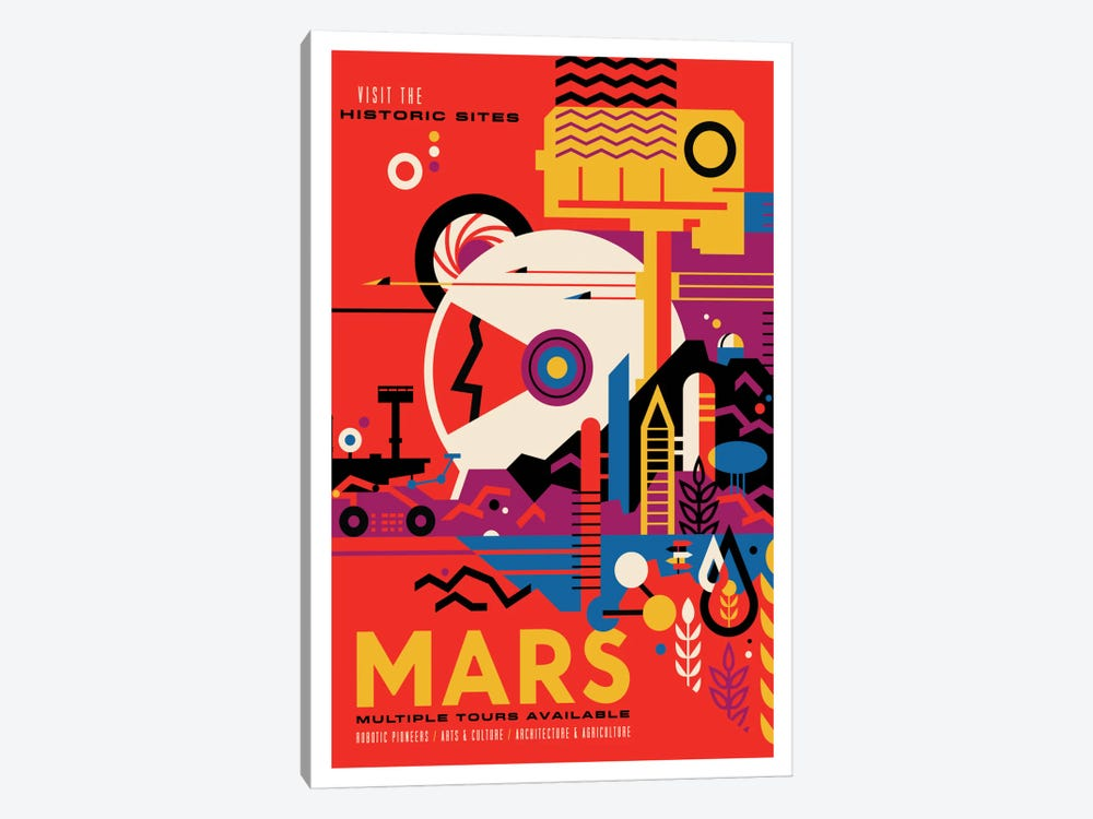 Mars by NASA 1-piece Art Print