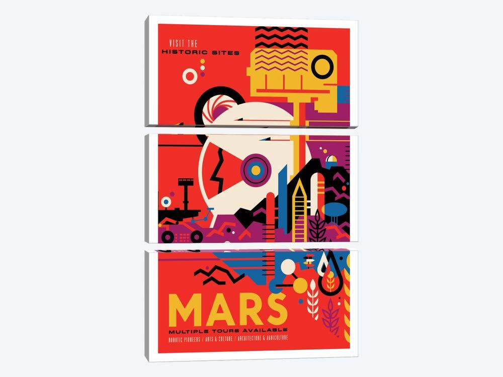 Mars by NASA 3-piece Canvas Art Print