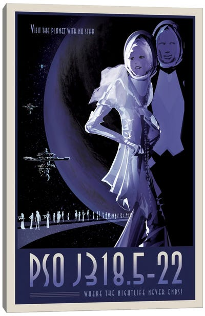 PSO J318.5-22 Canvas Art Print