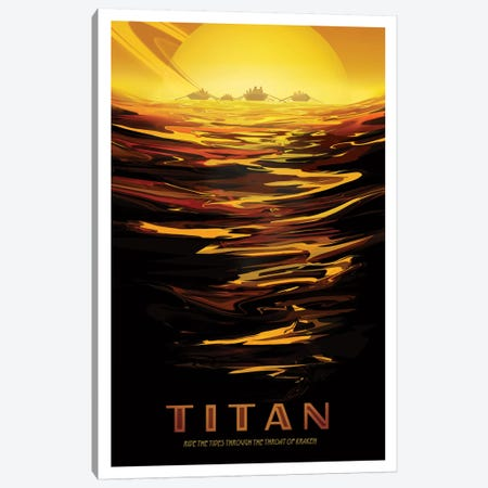Visions Of The Future Series: Titan Canvas Print #NAS13} by NASA Art Print