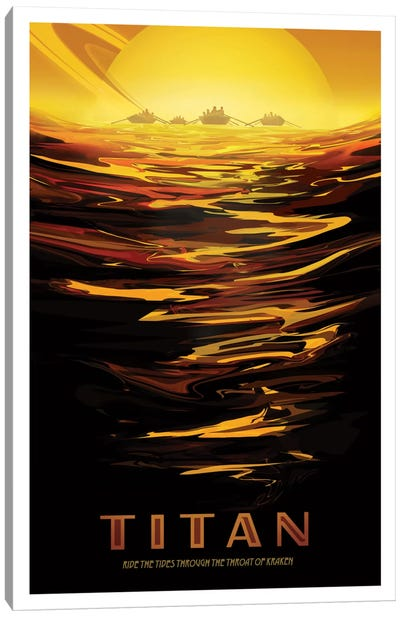 Visions Of The Future Series: Titan Canvas Art Print