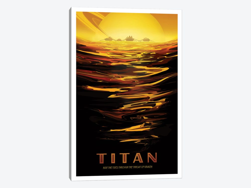 Visions Of The Future Series: Titan by NASA 1-piece Canvas Wall Art